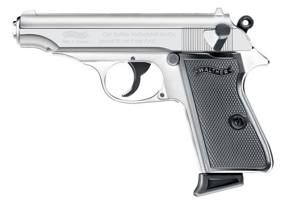 WALTHER Pistole Mod. PP polished chrome