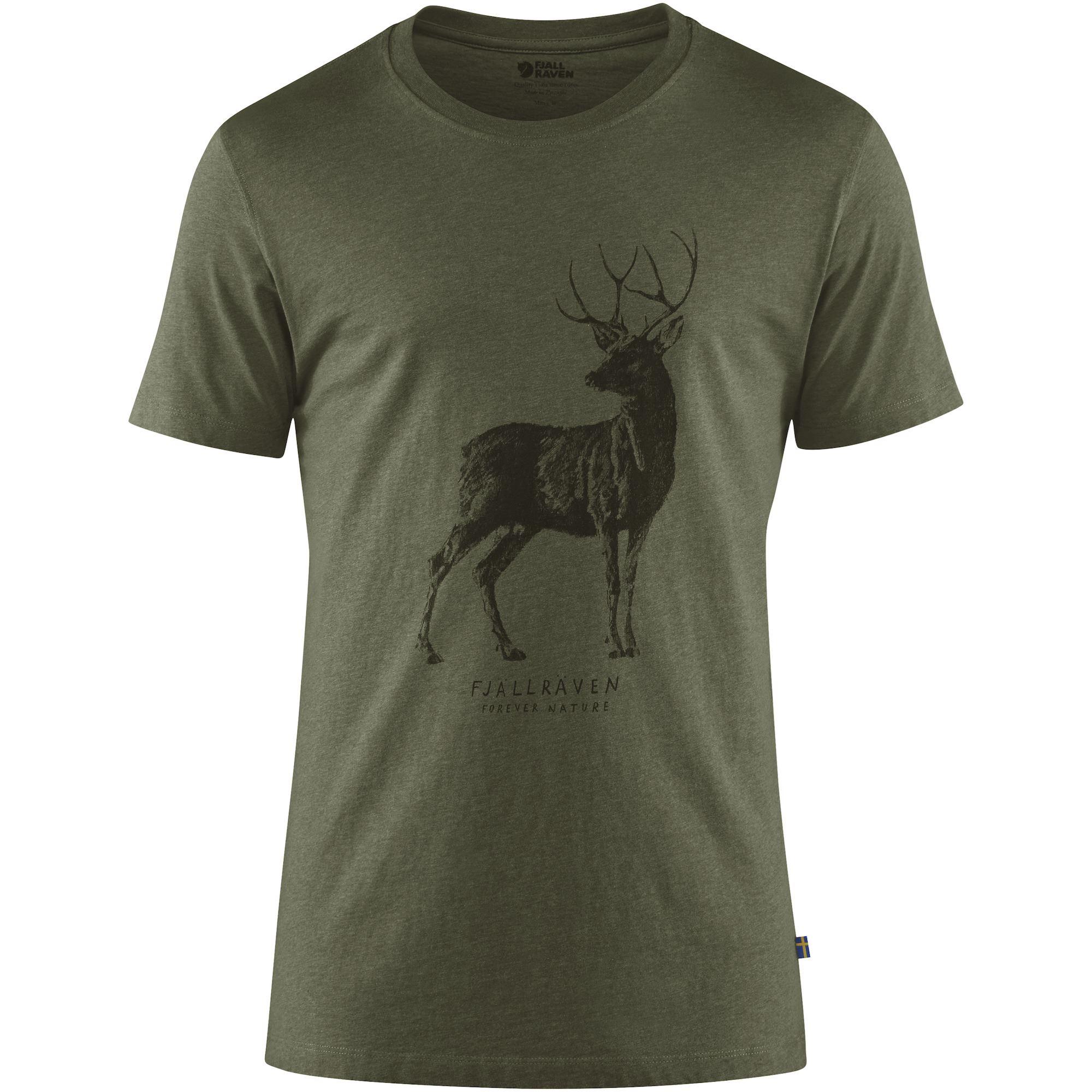 FJÄLL RÄVEN Deer Print T-Shirt M