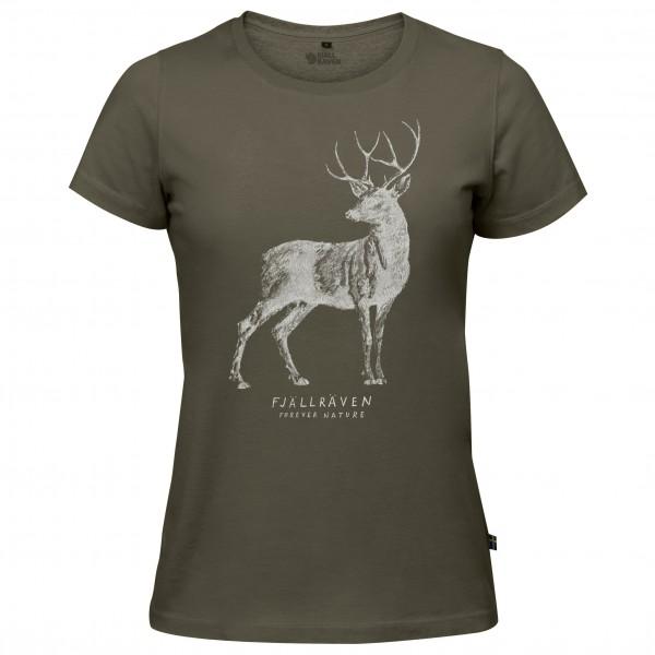 FJÄLL RÄVEN Deer Print T-Shirt W
