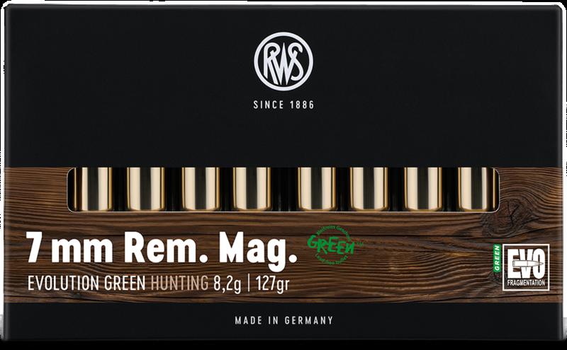 RWS Kal. 7mm Rem. Mag.  EVOLUTION GREEN  8,2g